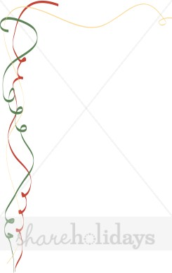 Christmas Streamers Border   Christmas Borders