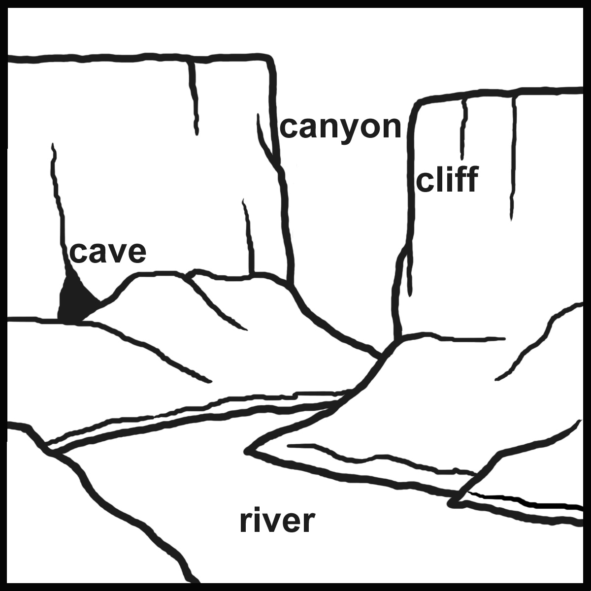 Clip Art Landform Coloring Pages landform coloring pages eassume com eassume