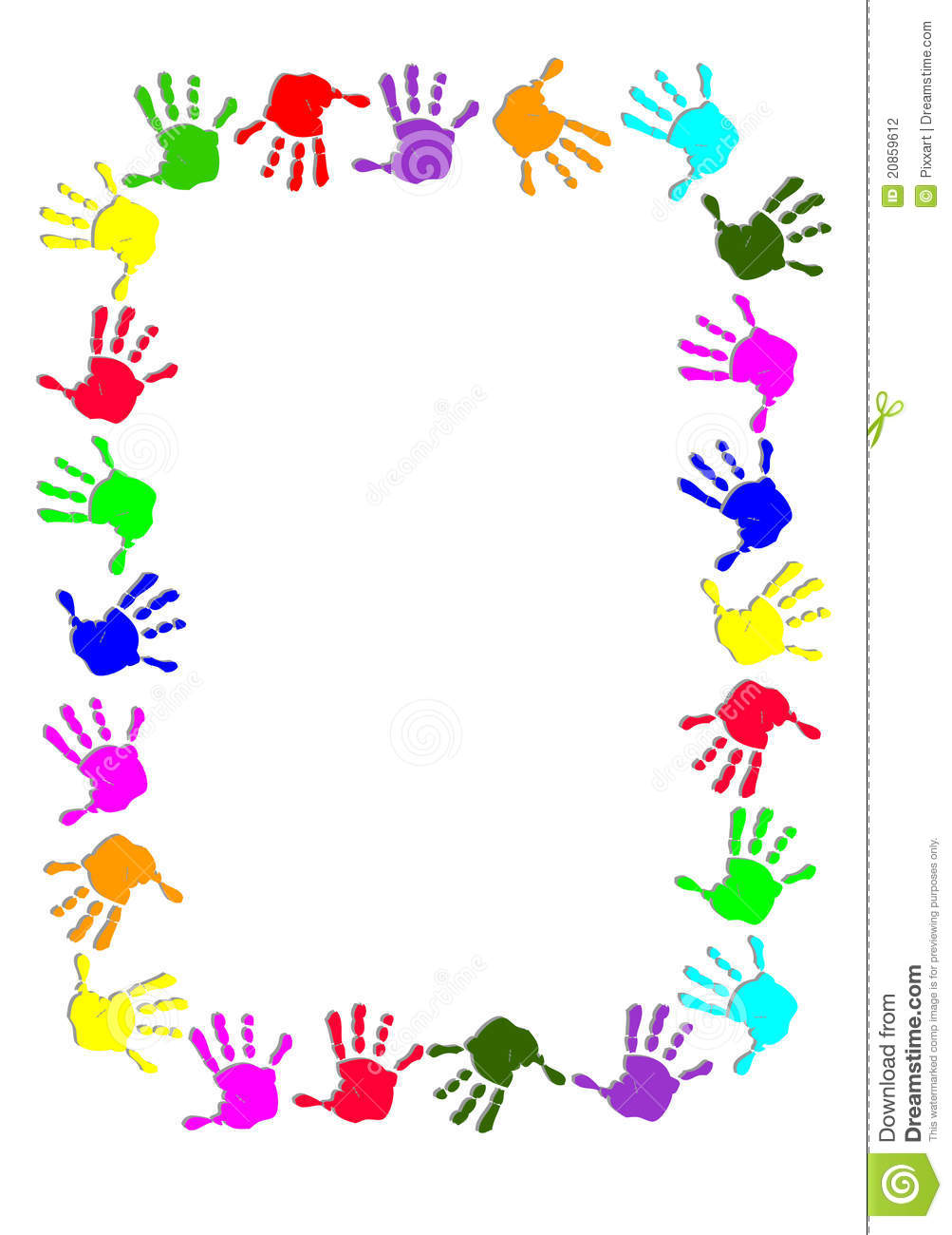Hands border clipart clipart suggest for Andy panda jardin