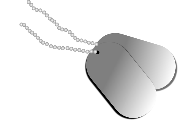 Dog Tags Clip Art At Clker Com   Vector Clip Art Online Royalty Free