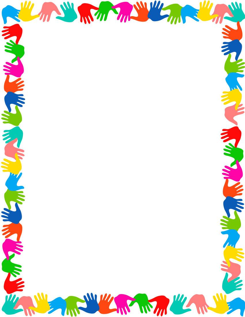Hands On Border Page Frames School Png Html