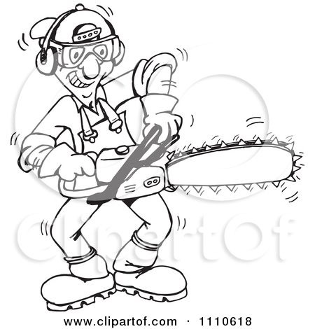 Royalty Free  Rf  Tree Trimmer Clipart Illustrations Vector Graphics
