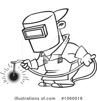 Royalty Free  Rf  Welder Clipart Illustration By Ron Leishman   Stock