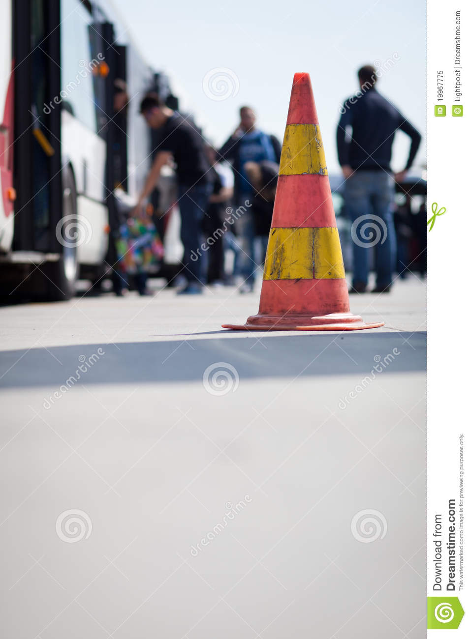 Safety Cone At The Aerodrome Of An Airport Royalty Free Stock Photo