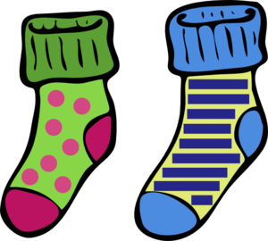 Socks2 Clip Art At Clker Com   Vector Clip Art Online Royalty Free