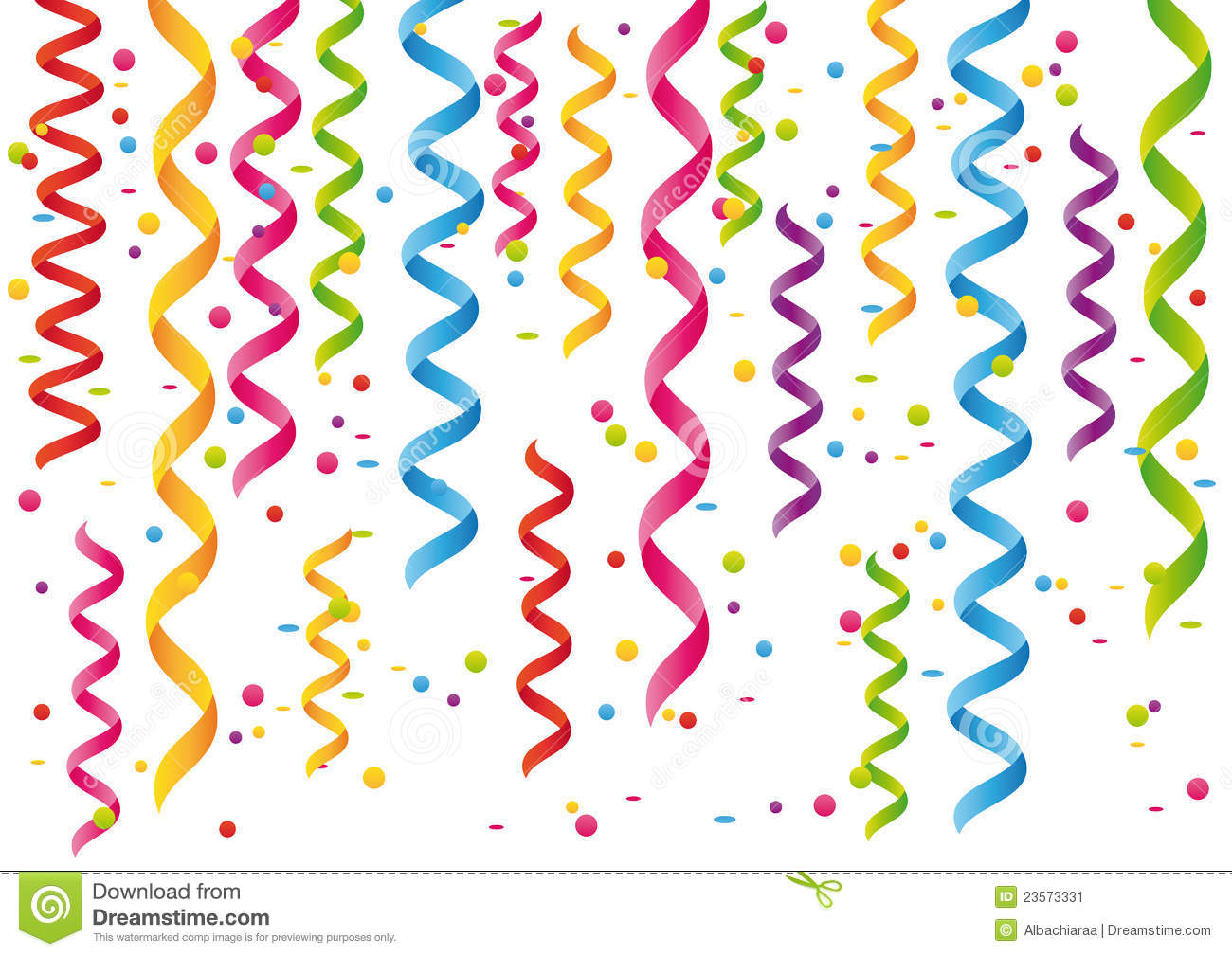 Streamers And Confetti  Stock Image   Image  23573331