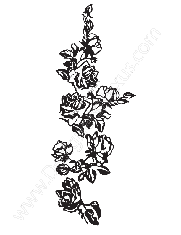 V15 Free Rose Vine Vector Graphic Rose Border Clip Art   Designers