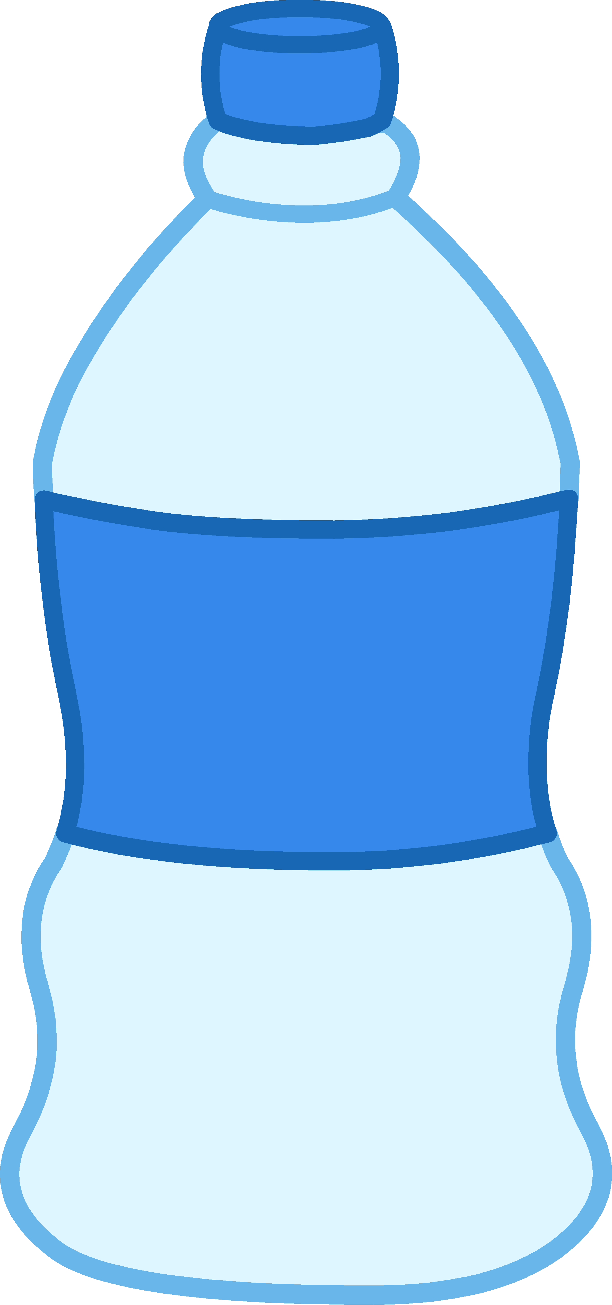 Plastic Water Bottle Black And White Clipart - Clipart Suggest