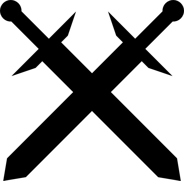 Black Crossed Swords Clip Art   Vector Clip Art Online Royalty