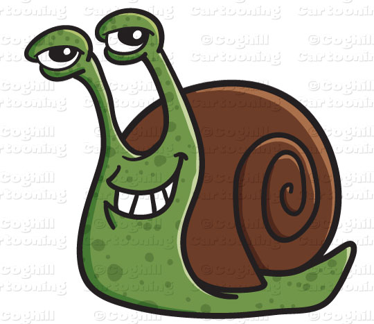 Cartoon Snail Clipart Graphic   Royalty Free Vector Clip Art Stock