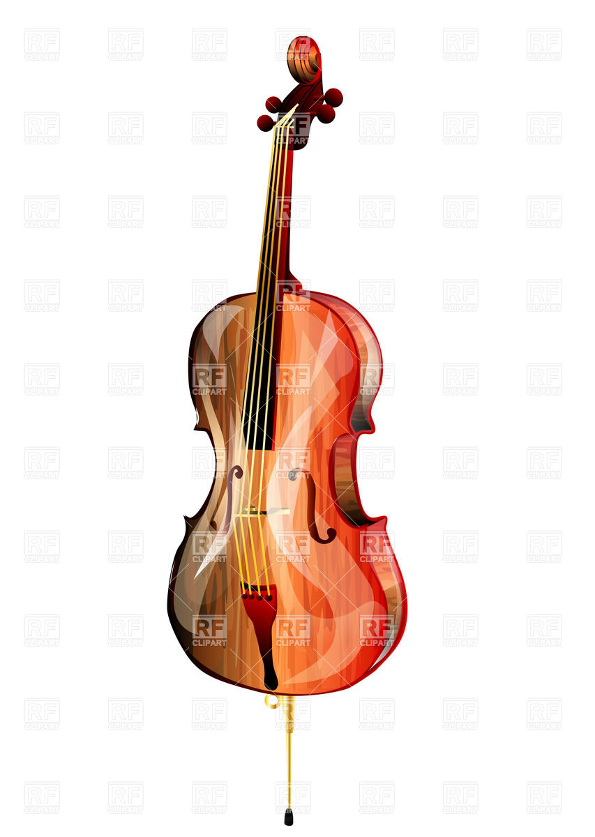 Cello Isolated On White Background Objects Download Royalty Free