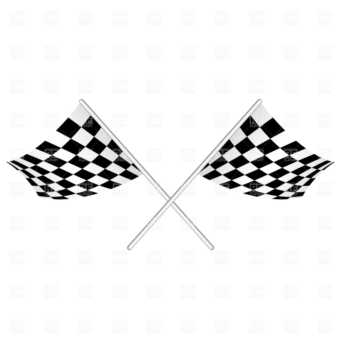 Checked Start Flag Download Royalty Free Vector Clipart  Eps