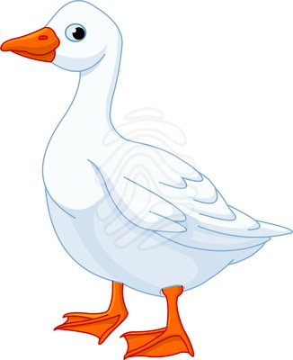 Clip Art  White Domestic Goose   Clipart Panda   Free Clipart Images
