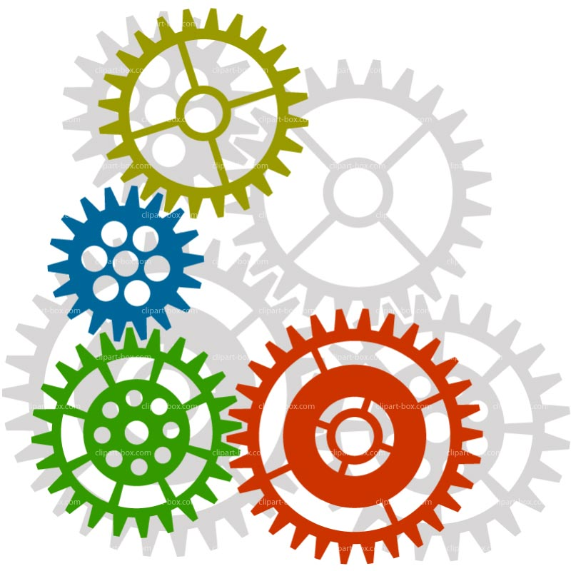 Clipart Gears Background   Royalty Free Vector Design