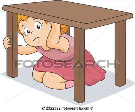 Clipart   Girl Hiding Under Table  Fotosearch   Search Clip Art