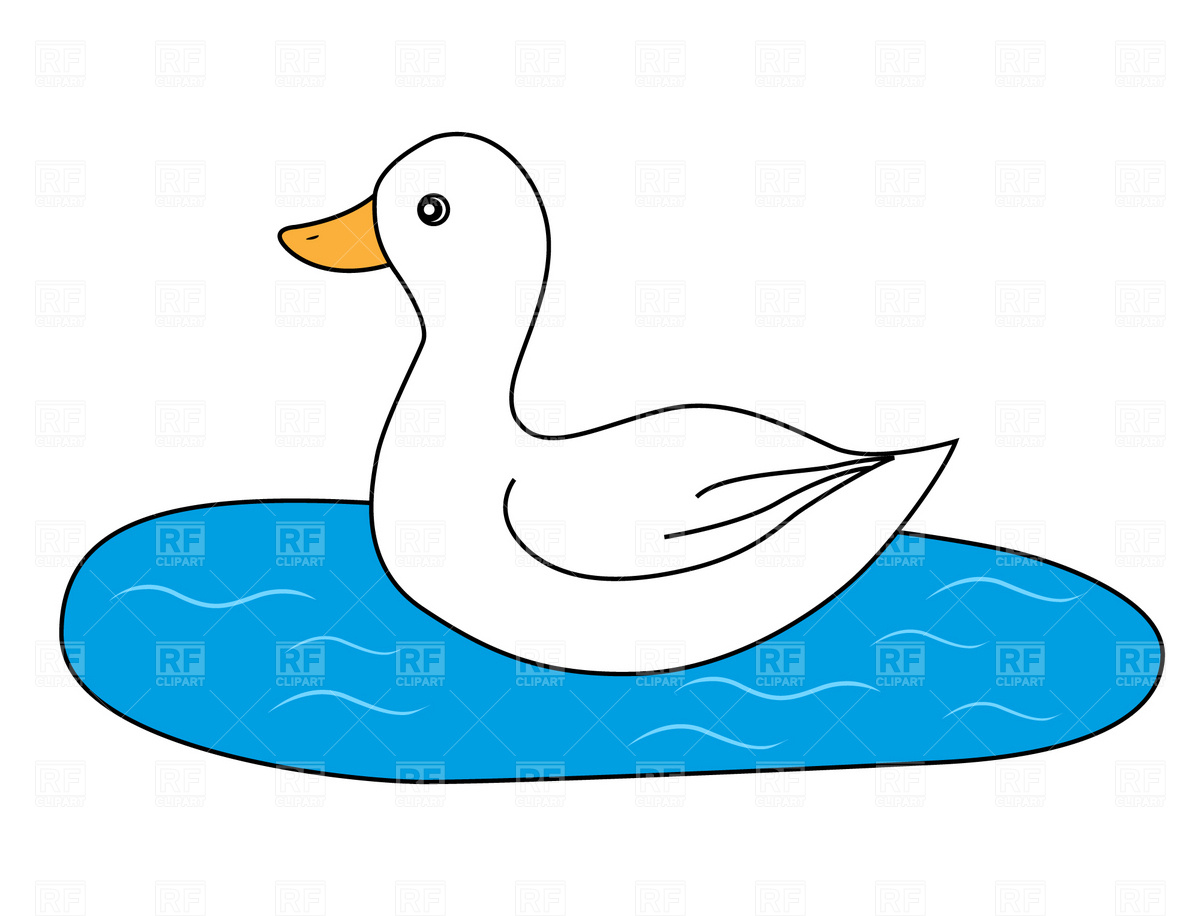 White Duck And Black Clipart - Clipart Suggest