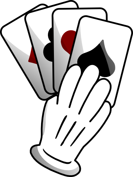 Gloved Hand Of Cards Clip Art At Clker Com   Vector Clip Art Online