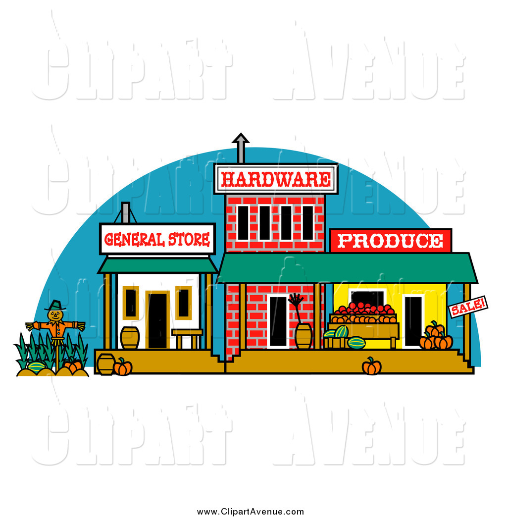 Hardware Store Clipart Avenue Clipart Of A Old Town