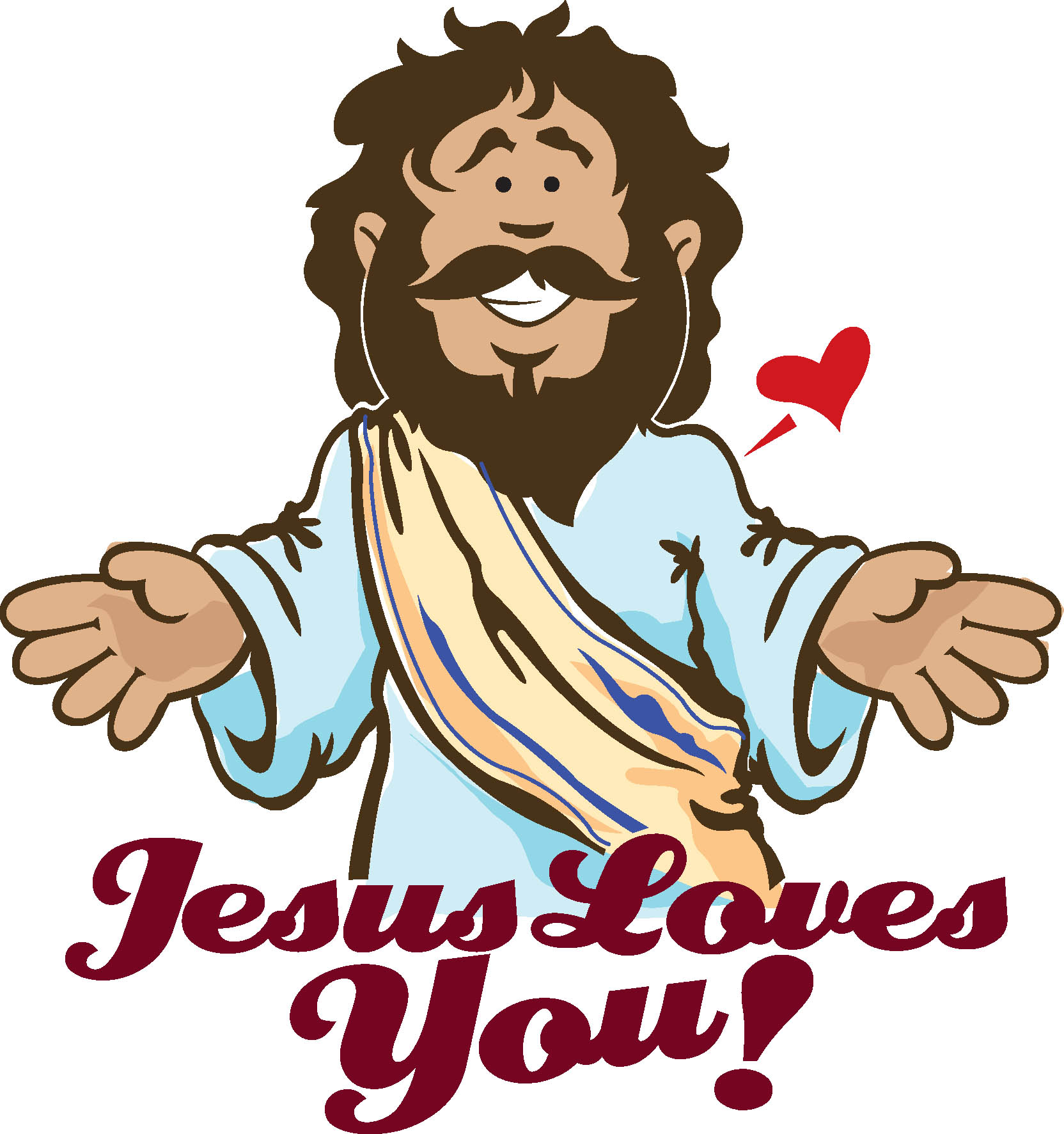 Jesus Loves Me Clipart - Clipart Kid