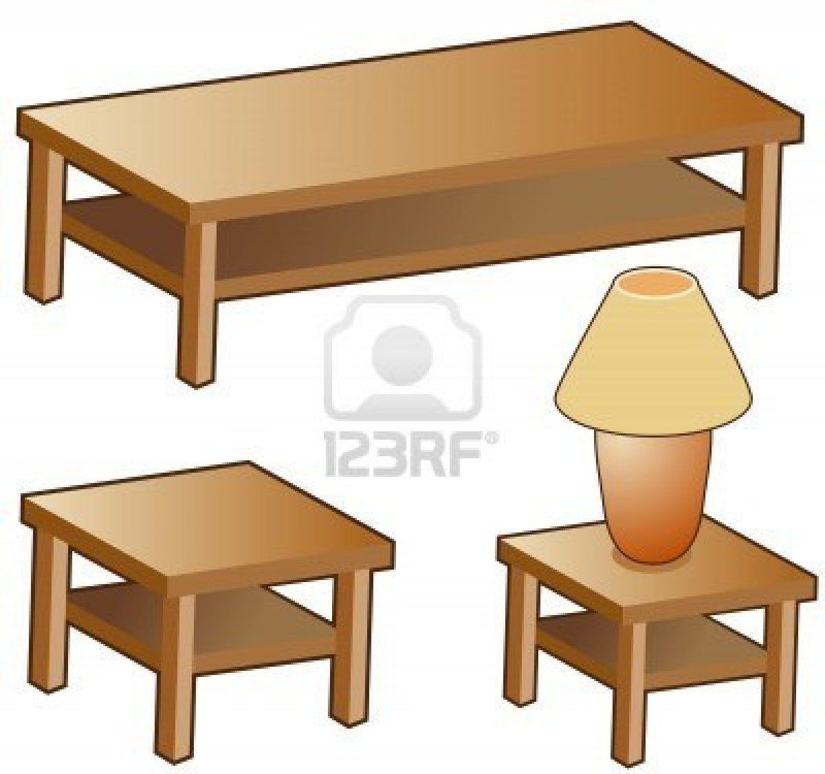 Cartoon Kitchen Furniture: Clip Art Coffee Table Clipart
