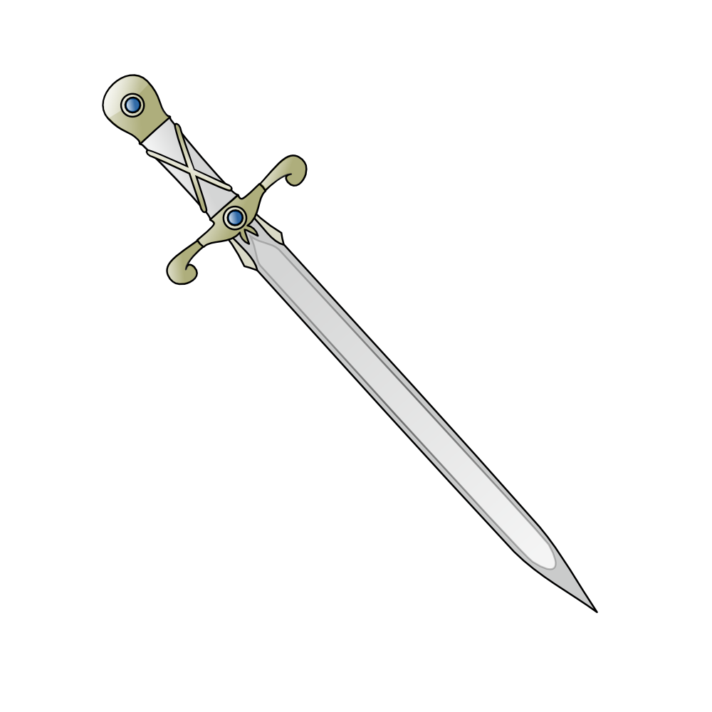 Onlinelabels Clip Art   Long Sword
