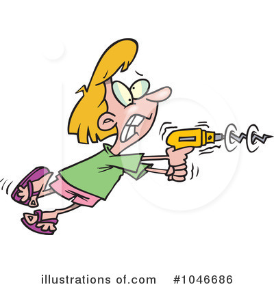 Power Drill Clipart  1046686 By Ron Leishman   Royalty Free  Rf  Stock