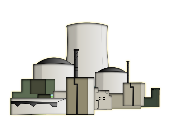 Power Plant Clipart Nuclear Power Plant