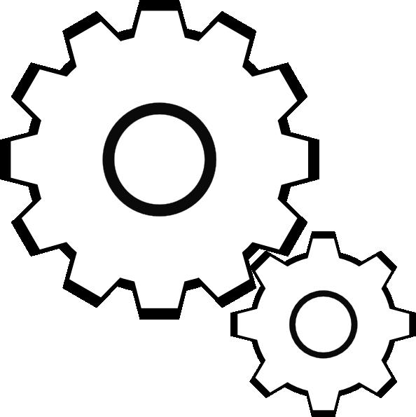 Simple Gears Clip Art At Clker Com   Vector Clip Art Online Royalty
