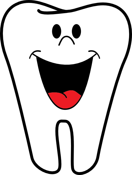 Smiling Tooth Clip Art At Clker Com   Vector Clip Art Online Royalty