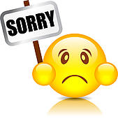 Sorry Clip Art Eps Images  422 Sorry Clipart Vector Illustrations