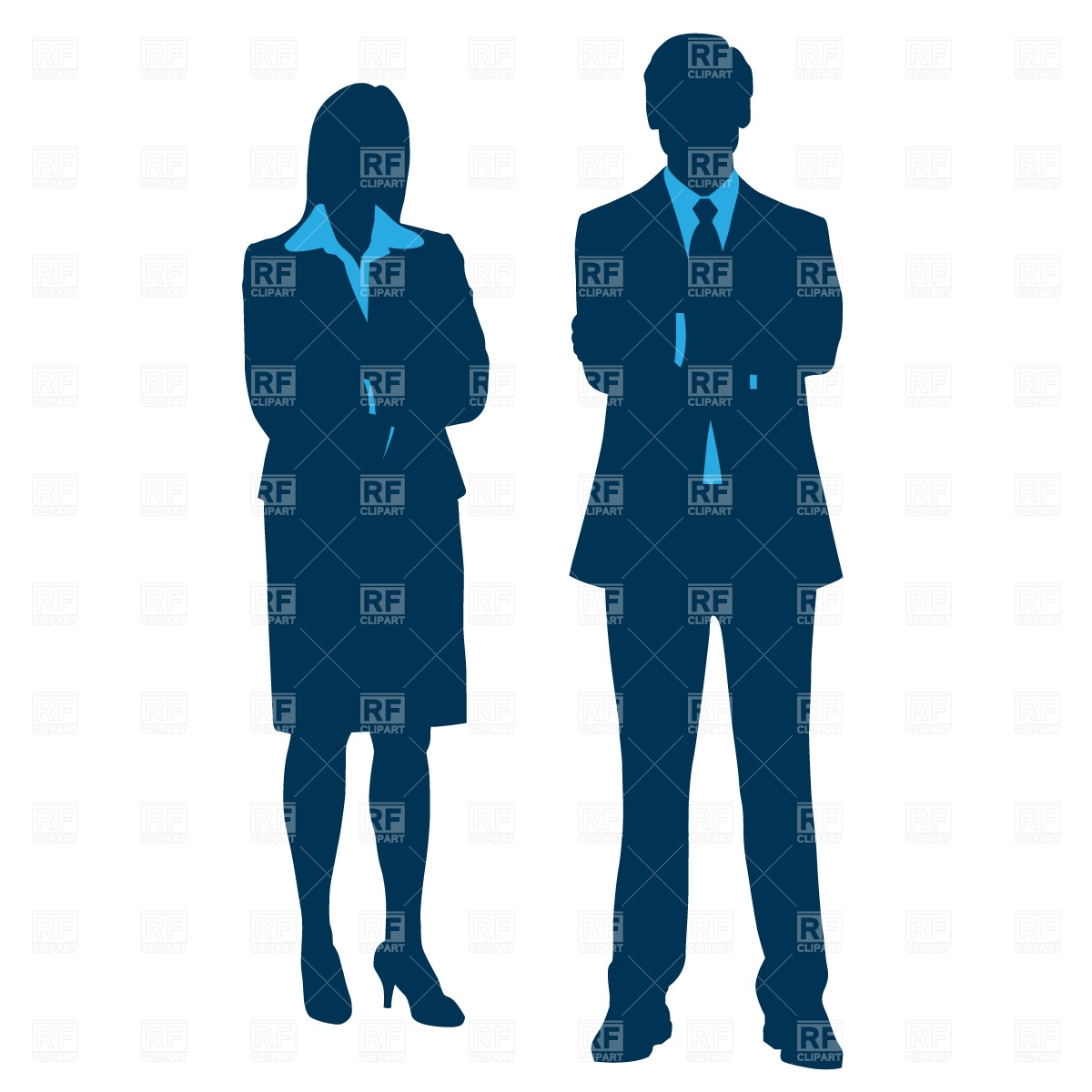 Staff   Managers In Suits Download Royalty Free Vector Clipart  Eps