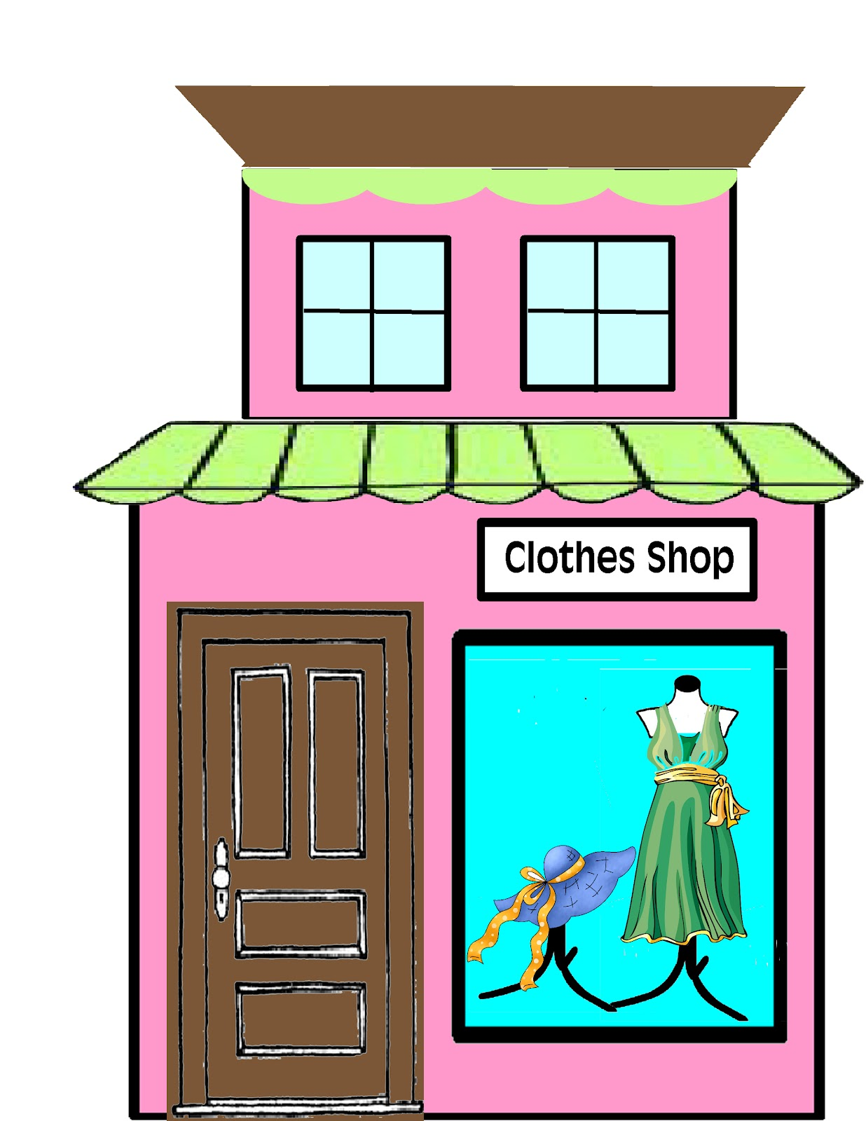 Storefront Clipart - Clipart Kid
