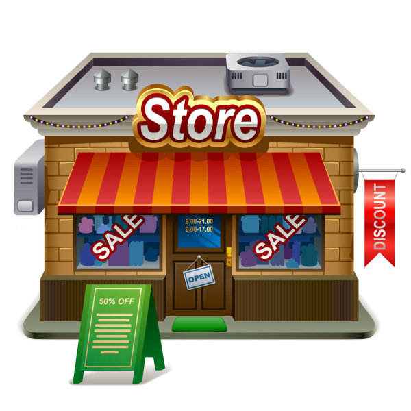 Store Vector 02 Download Name Elements Of Cartoon Store Vector 02