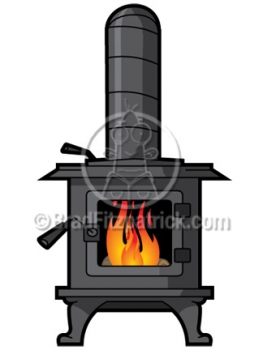 Stove Clip Art   Wood Stove Clipart Graphics   Vector Wood Stove Icon