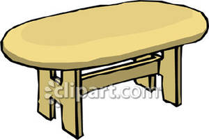 Table Clip Art Oval Shaped Dining Room Table Royalty Free Clipart
