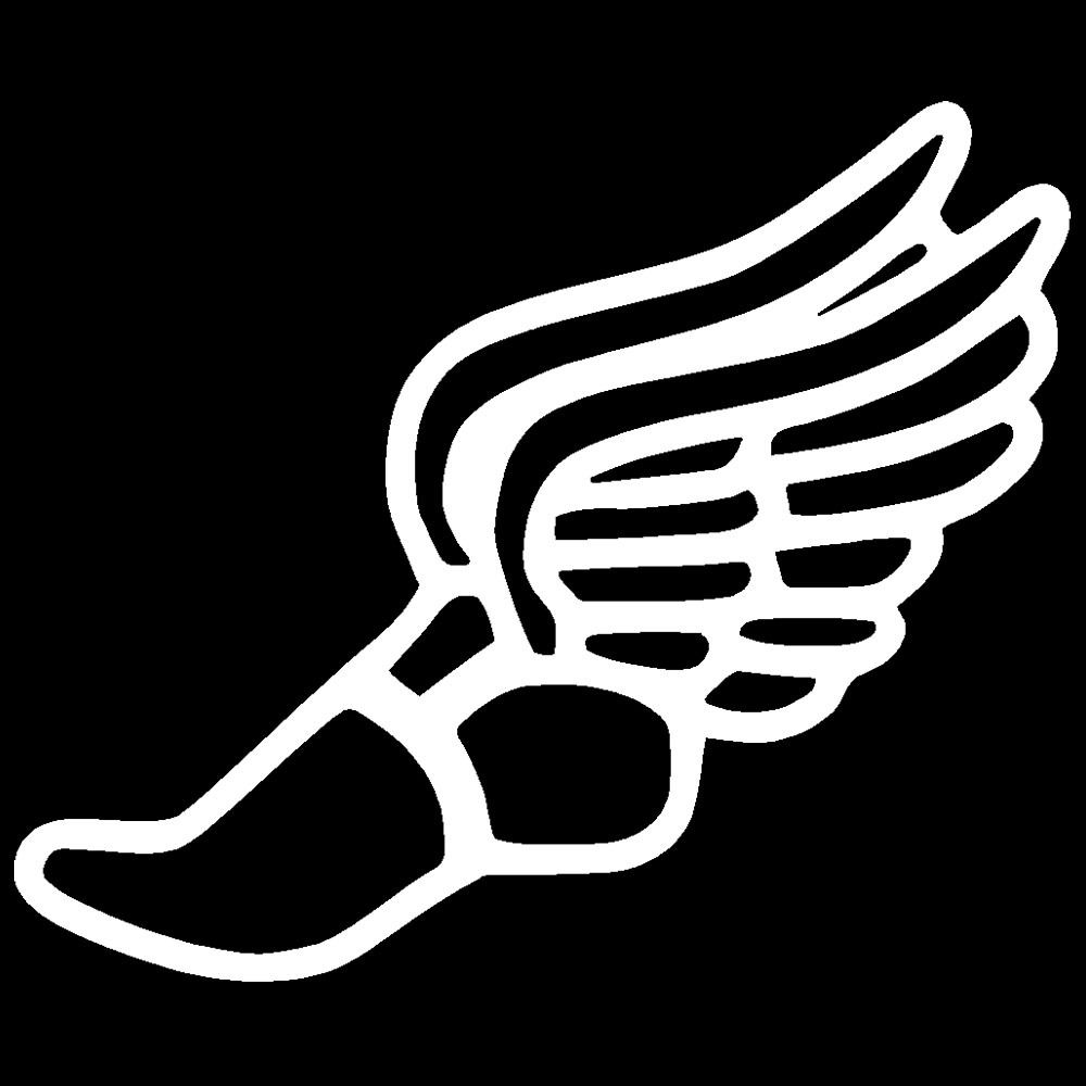 Track Shoes More Wings Black And White   Clipart Best   Clipart Best