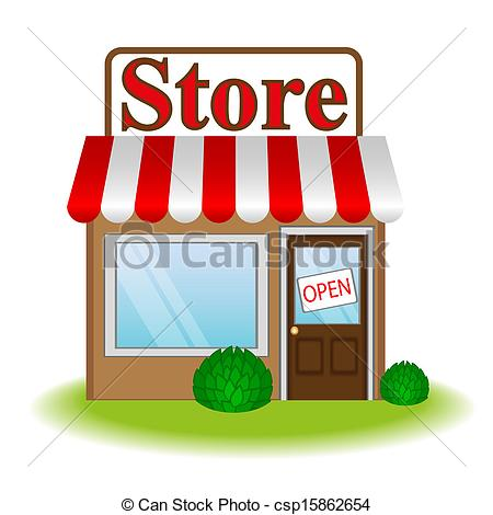 Vector   Vector Illustration Of Store Icon   Stock Illustration