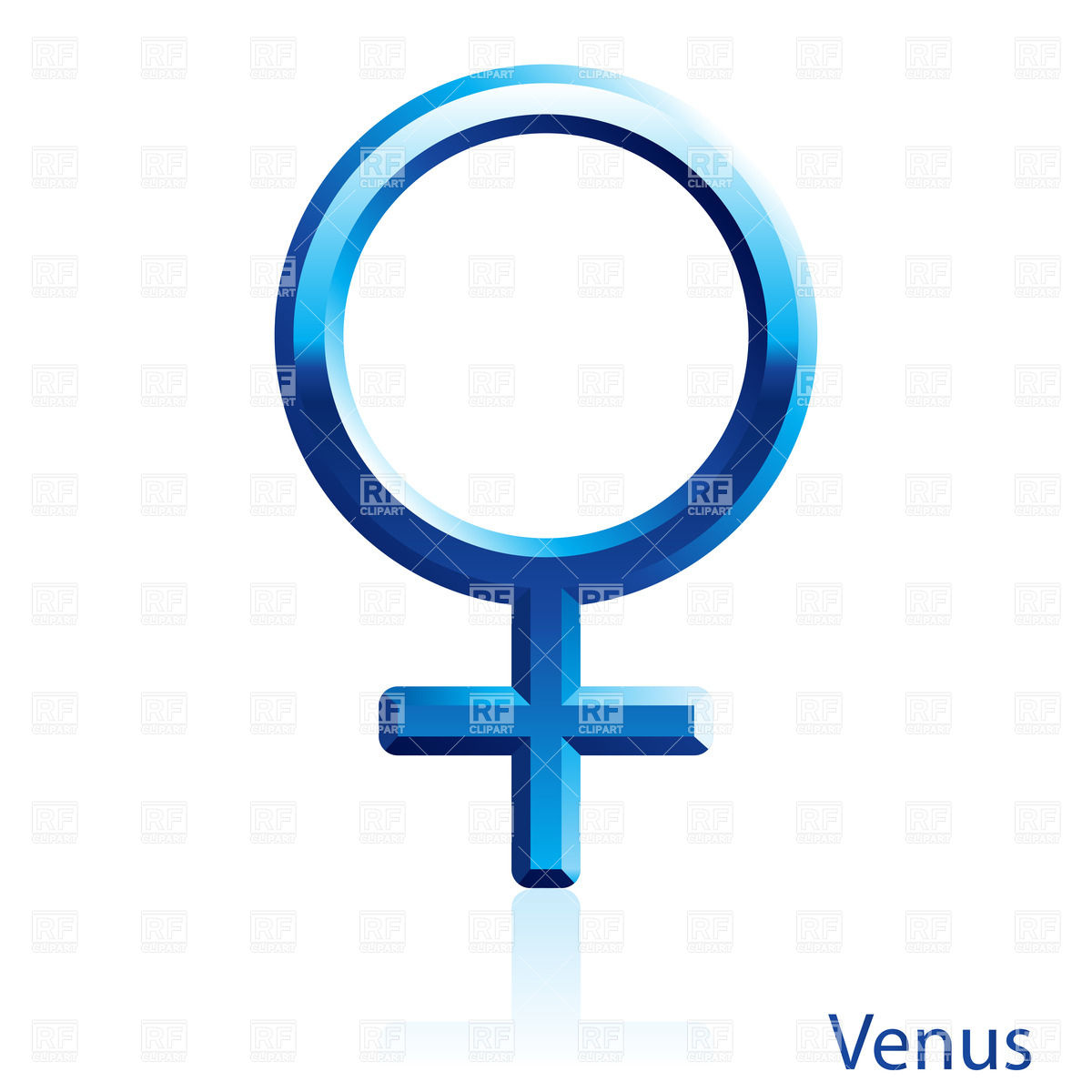 Venus Sign On White Background Download Royalty Free Vector Clipart