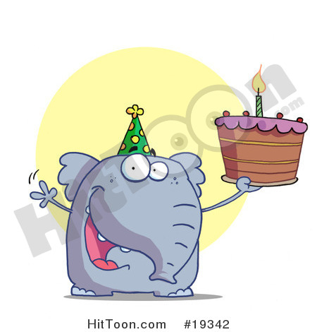 Birthday Cake And Hat Clip Art