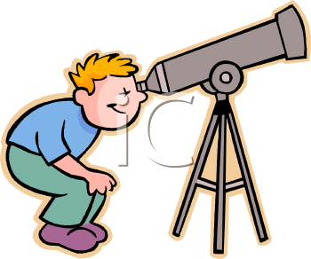 Boy Looking Through A Telescope Clip Art   Royalty Free Clipart