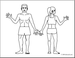 Clip art human body coloring page preview 1 tkaaeb for Human body coloring page