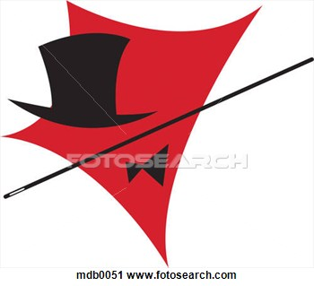 Clipart Of A Top Hat Bow Tie And Magicians Wand Mdb0051   Search Clip