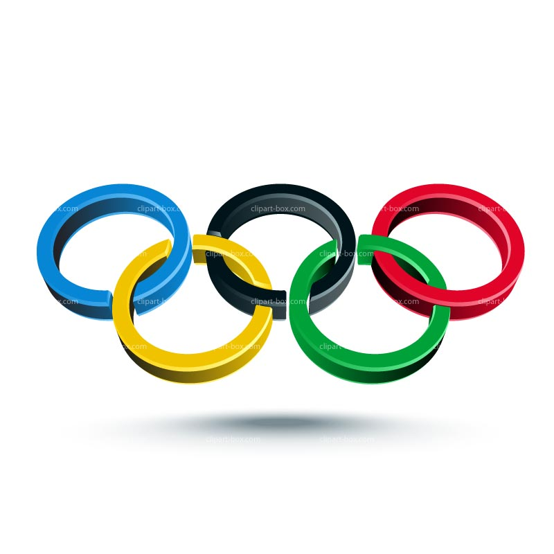Clipart Olympic Rings 3d   Royalty Free Vector Design