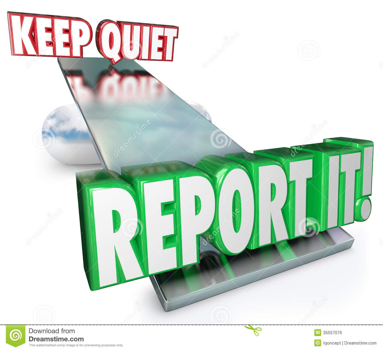 Keep Quiet Vs Report It Weighing Options Do Right Thing Royalty Free