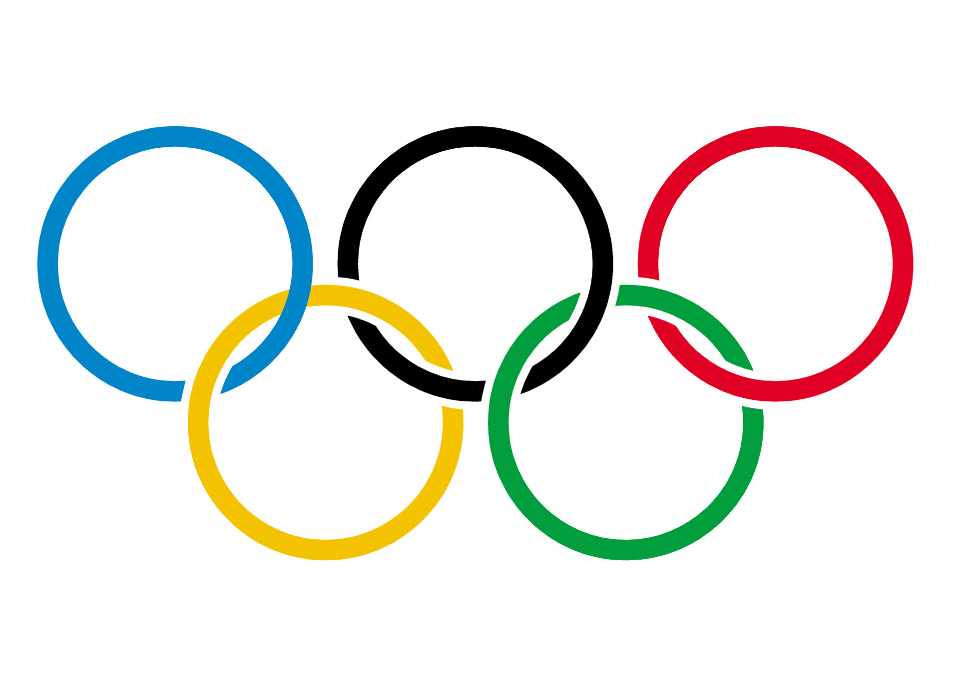 Olympic Rings On White By Petr Kratochvil