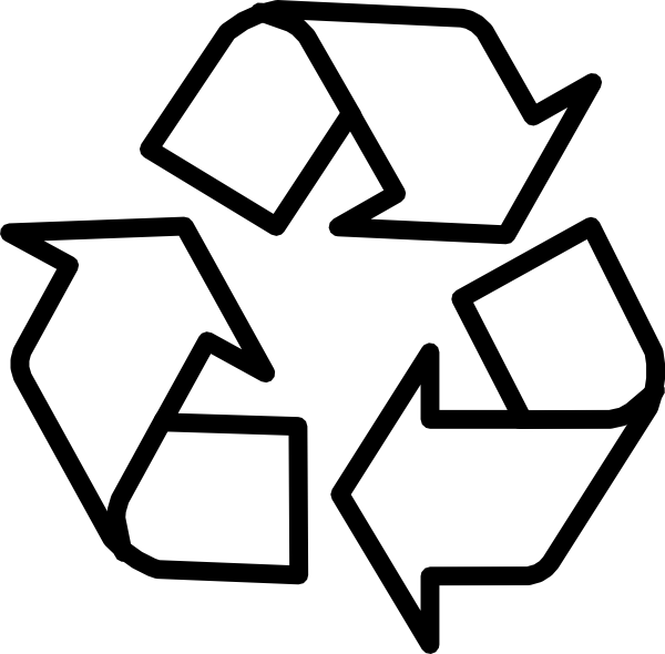 Recycling Symbol Outline Clip Art At Clker Com   Vector Clip Art