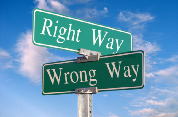 Right Way Wrong Way   Free Images At Clker Com   Vector Clip Art