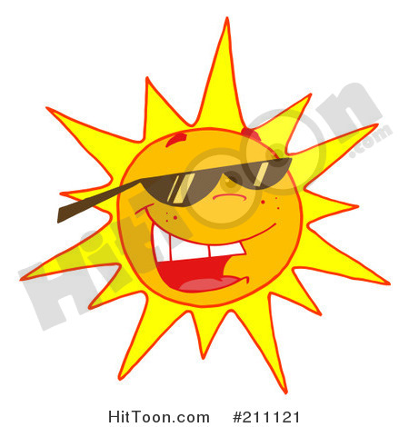 Royalty Free  Rf  Clipart Illustration Of A Hot Summer Sun Wearing
