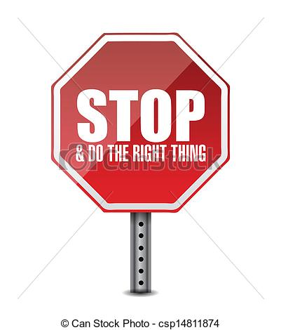 Vector   Do The Right Thing  Stop Sign Illustration Design   Stock