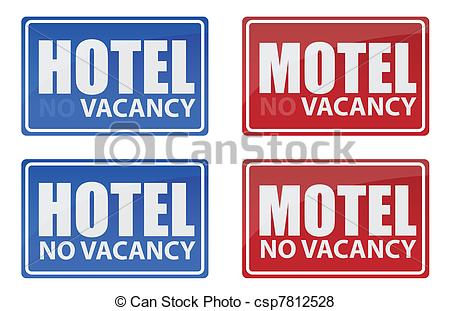 Vector Of Retro Hotel And Motel Signs Illustration Design Csp7812528